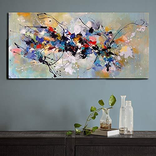 ganlanshu Cartel Moderno Abstracto de la Pintura de la Lona e impresión Mural sin Marco de la Sala de Estar 20cmX40cm