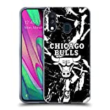 Head Case Designs Ufficiale NBA Marmoreo 2019/20 Chicago Bulls Cover in Morbido Gel Compatibile con Samsung Galaxy A40 (2019)