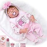 """ZIYIUI 23 """" Muñecas Juguete Realista de Muñecas 58cm Vinilo de Silicona de Algodón Reborn Baby Doll..."""