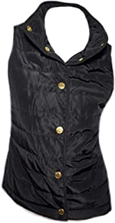 Womens Black Quilted Vest