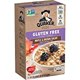 Quaker Gluten Free Instant Oatmeal, Maple & Brown Sugar, Non GMO Project Verified, Individual Packets, 48 Count