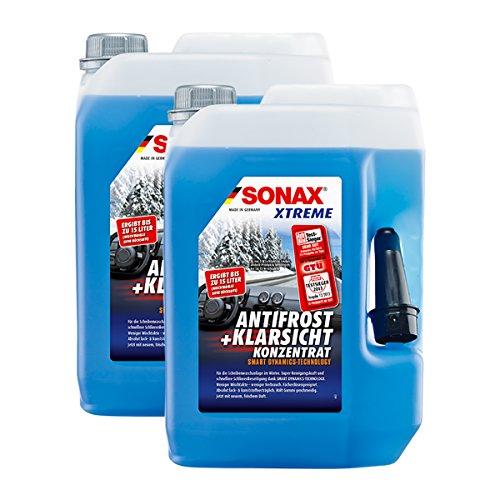 SONAX 2X 02325050 Xtreme AntiFrost+KlarSicht Konzentrat Scheiben Frostschutz 5L