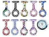 Tiga Med - Juego de 9 relojes de enfermera (1 reloj + 9 fundas de silicona)