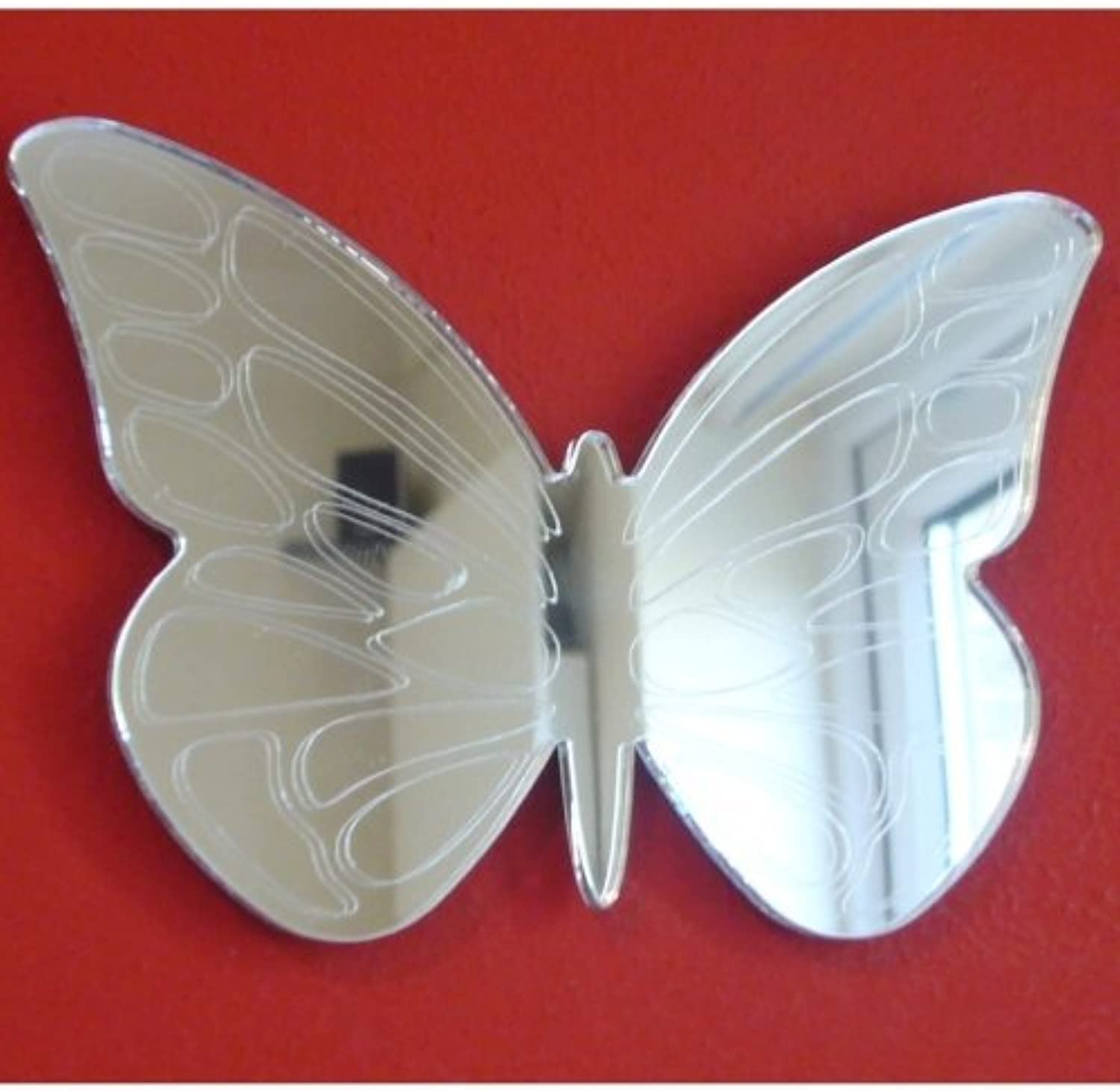 Butterfly Mirrors Etched - 60cm x 41cm