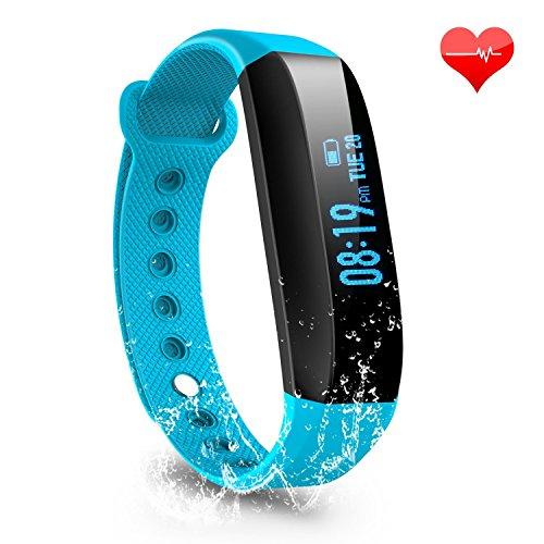 LESHP Fitness polshorloge Bluetooth 4.0 hartslagmeter hartslaghorloge stappenteller slaapmonitor activiteitstracker remote foto oproepen sms-berichten