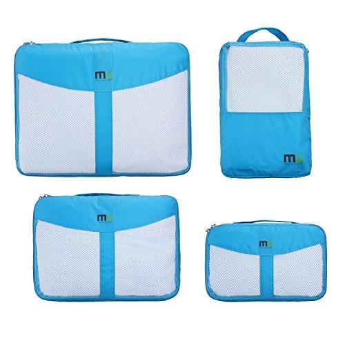 MIU COLOR-Bolsa De almacenaje ® para maleta De viaje con asa organizador De embalaje Lote De 4 () 3 en 1 para zapatos De vestir azul