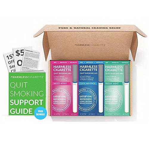 Paquete de 3 productos para dejar de fumar Producto para fumar para satisfacer y reducir los rastrillos Incluye una guía gratuita y un conjunto de variación de color hipnosis para audiómetro