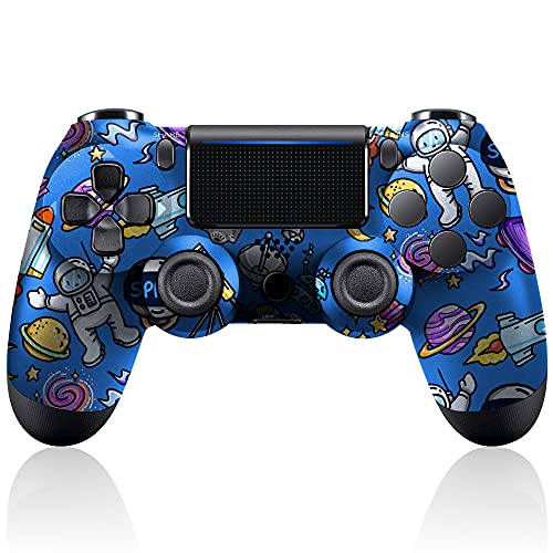 PS4 Controller Wireless, Gaming Controller PS4, Compatible with Playstation 4/Slim/Pro, Bluetooth PS4 Controller, PS4 Remote Controller, Replacement for Playstation 4 Controller (Space)