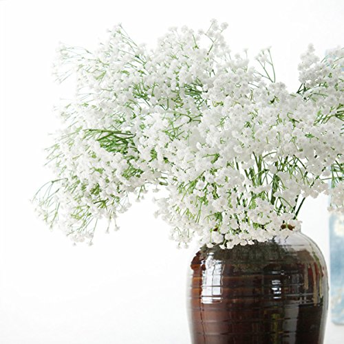 LACKINGONE Flores Artificiales, Gypsophila Artificial, Flores de Tacto Real para decoración del hogar, Bodas, Fiestas, oficinas, restaurantes