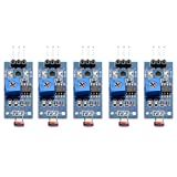 Wangdd22 5 PCS Light Detection Digital Switch Mete Output Photosensitive Sensor Module for Arduino