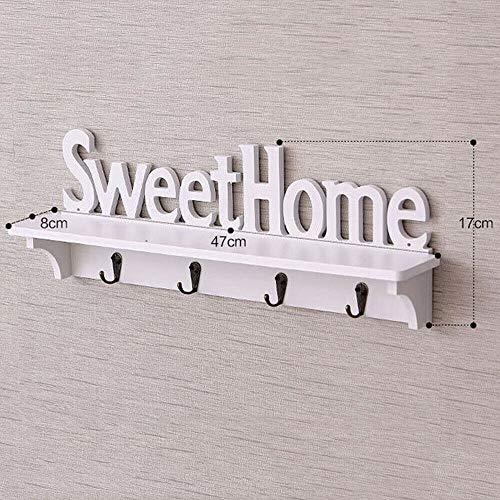 feilai Perchas de pared para colgar en la puerta o en la entrada de llaves, accesorios de joyería, caja de almacenamiento, caja de acabado, decoración de estante moderno (color: Sweethome)