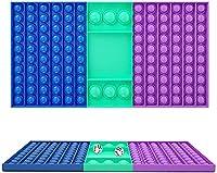 プッシュポップ スクイーズ玩具 知育 ストレス解消 フィジェット 大きな波普虹は居ても立ってもいられないおもちゃ、碁盤の四角形は泡を押して遊んで波普は居ても立ってもいられません 官能玩具は親子の時間です (C)