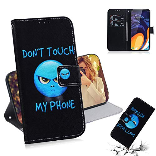 Lyzwn Samsung Galaxy M40 / A60 Funda Libro, Carcasa con Tapa Flip Color Case Antigolpes Parachoques Cartera Billetera Magnético Tarjetero y Función de Suporte PU Cuero Polipiel Suave