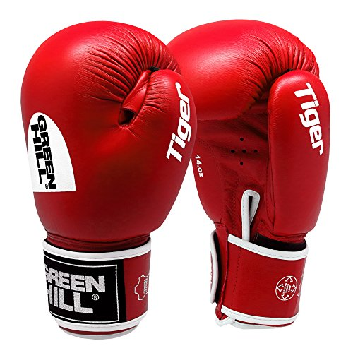 Greenhill Tiger Boxing Gloves (Red, 10 OZ)