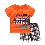 sunnymi ® 1-7 Jahre Baby Jungen Cartoon Dinosaurier Krokodil T Shirt Gitter Shorts Outfits