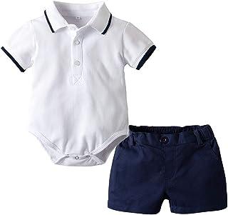 Minizone Baby Polo Body and Kurze Hosen 2er Stuck Jungen Strampler Hose Kleidung Set