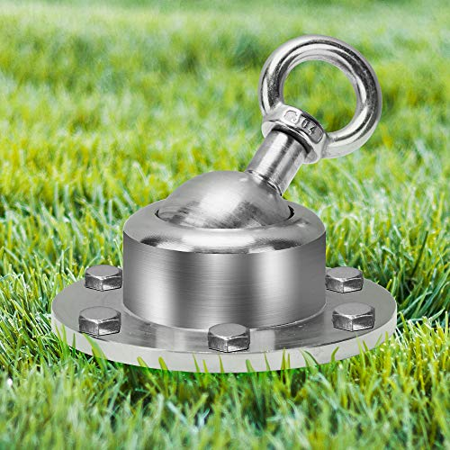 Bougainvillea 360° Swivel Dog Tie Out Stake Dog Anchor, Anipaw Heavy Duty Yard Stake Rust Proof Dog Tether Holds, 1500 Lbs of Pull Force, Great for Outside Yard Camping Lawn