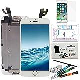 Trop Saint® Pantalla LCD Blanco para iPhone 6 Completa Premium Kit de reparación con Guía, Herramientas y Film Protector Pantalla