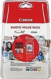 Canon CLI-551 4 Cartuchos Valuepack de tinta original Negro/Cian/Magenta/Amarillo (Incluye PP-201 50 sheets) para Impresora de Inyeccion de tinta Pixma MX725-MX925-MG5450-MG5550-MG5650-MG6350-MG6450-MG6650-MG7150-MG7550-iP7250-iP8750-iX6850