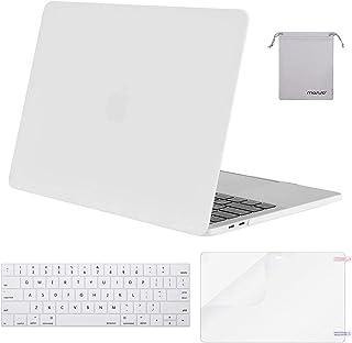 حافظة Mosiso MacBook Pro 13 2018 2017 2016 الإصدار A1989 / A1706 / A1708، غطاء بلاستيكي صلب مع غطاء لوحة مفاتيح مع واقي شا...