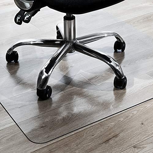 """TOMIR Office Chair Mat for Hardwood Floor, Transparent Floor Mats for Rolling Chairs Chair Mat for Hardwood Floor, 48"""" x 36"""""""