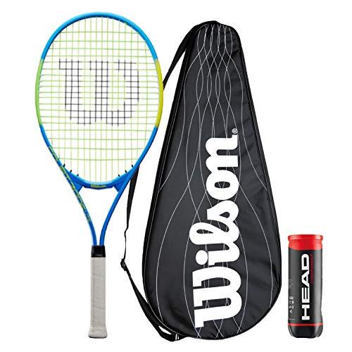 Wilson Court Zone Lite - Raqueta de tenis (incluye funda de rendimiento y 3 pelotas de tenis de campeonato