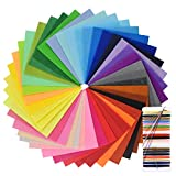 NATUCE 40 Colores Fieltro Manualidades Tela no Tejido de Lana, 15*15cm Hojas de Fieltro, 40PCS Hoja de Fieltro, Material para Costura Artesanías Bricolaje, No Tejido Tela de Fieltro Suave Felt Fabric