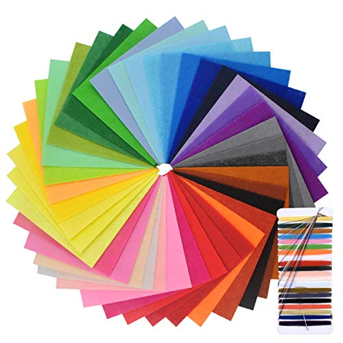 NATUCE 40 Colores Fieltro Manualidades Tela Tejido Lana 1515cm