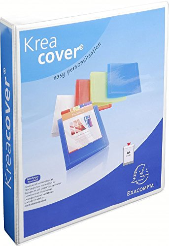 Exacompta Kreacover A4+ 4 D-Ring 40 mm Ring Binder - Wit (Pak van 10)