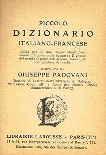 PICCOLO DIZIONARIO ITA/FRA FRA/ITA.