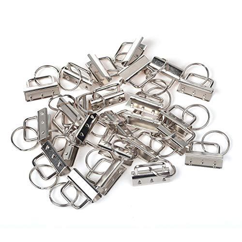Preisvergleich Produktbild Crivers Metallteile für Schlüsselanhänger,  mit Schlüsselring,  30 Stück