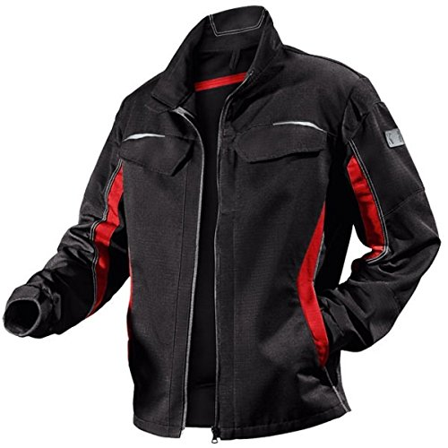 KÜBLER Arbeitsjacke zweifarbig Stretch 1324, Größe:52, Farbe:schwarz/rot