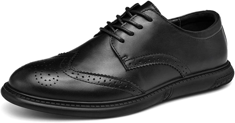 PADDIJIER Brogue skor for män Winghtip Oxfords skor med Lace Lace Lace Up and Round Toe Flat Heel Abrasion Resistent (Färg)  Karving svart, Storlek  9.5 M US)  handla online idag