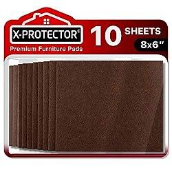 "Image of Felt Furniture Pads X-PROTECTOR 10 Pack Premium 8""x6"" Heavy Duty 1/5"" Felt Sheets! Cut Furniture Felt Pads for Furniture Feet You Need – Best Furniture Pads for Hardwood Floors!: Bestviewsreviews"