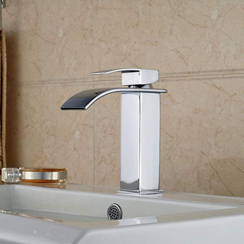 Wasserhahn Deck Montiert Grohandel Und Einzelhandel Frderung Chrom Poliert Messing Wasserfall Bad Becken Wasserhahn Platz Vanity Sink Mischbatterie