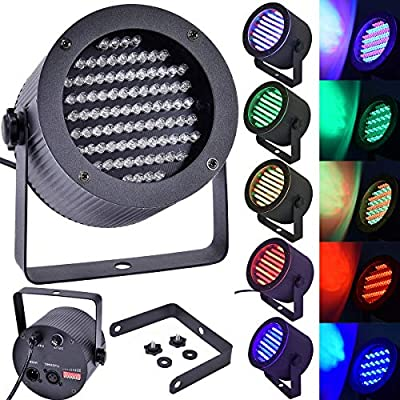 Multigot 2 PCS Stage Lights, 86x25W LED DMX Par Lamp with Sound Activated and Automatic Modes, RGB Disco Light for Christmas Party, Parties, Bar & KTV