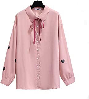 Ladies Fashion Bow Tie Chiffon Shirt Spring And Autumn Elegant Office Ladies Shirt Long Sleeve Casual Shirt Solid Color Top