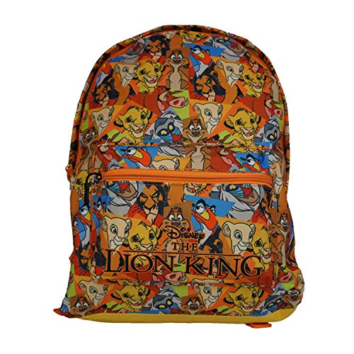 The Lion King Officially Licensed Pattern Backpack- Plain/Personalised School Quality Product Stitching Padded Shoulder Straps Tension Resistant 100% Polyester (Plain)