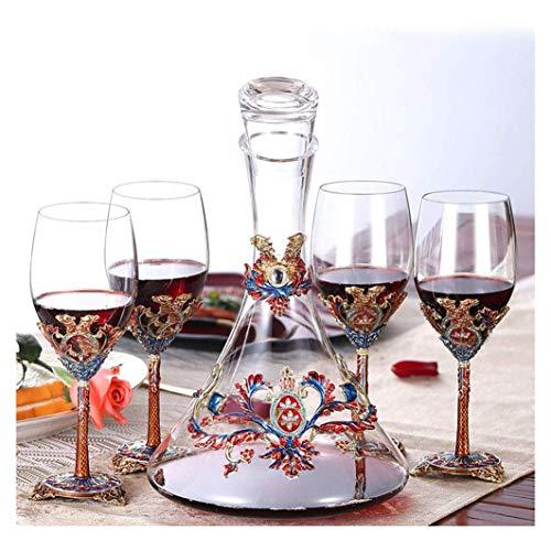 JJYP druif Rode Wijnglazen Decanter Wijn en Rode Wijn kristal diamant wijn glas diamant beker cocktail business gift Hand Geblazen Bril Gemaakt van Loodvrij Glas-B