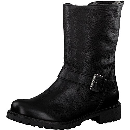 Tamaris Damen Biker Boots 26991-21,Frauen Stiefel,Stiefelette,Halbstiefel,Bikerstiefelette,Bootie,gefüttert,Winterstiefelette,Blockabsatz 3cm,Black,EU 41