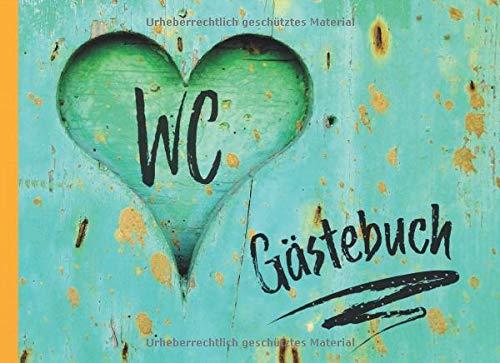 WC Gästebuch: ein lustiges Geschenk zum Einzug statt Blumen - Eintragebuch zur Erinnerung an liebe Toilettengäste