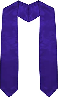 Traditional Unisex Graduation Plain Stole/Sash - All Colors - 64in. Long