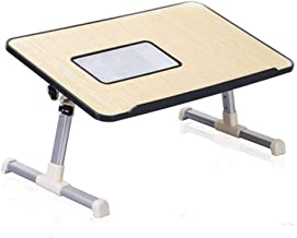 Fly® Folding Table with Fan Laptop Table Bed Desk Small Table Dormitory Table 600mm*300mm (Color : Blue, Size : 600mm*300mm)