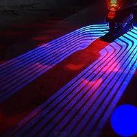 LEDウェルカムライト バイク 二輪車専用 ledカーテシーランプ アンダーライト プロジェクションランプ オートバイ 天使の翼 汎用 左右2個セット(青い)