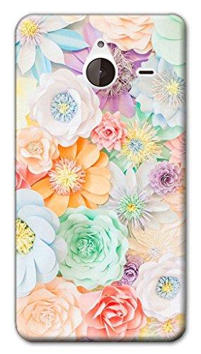 Mixroom - Cover Custodia Case In TPU Silicone Morbida Per Nokia Lumia 640 XL W358 Fiori Flowers Light