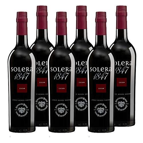 Vino oloroso dulce Solera 1847 de 75 cl - D.O. Jerez de la Frontera - Bodegas Gonzalez Byass (Pack de 6 botellas)