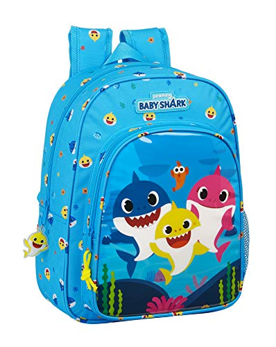 Mochila Safta Escolar Infantil Animada de Baby Shark, 260x110x340mm