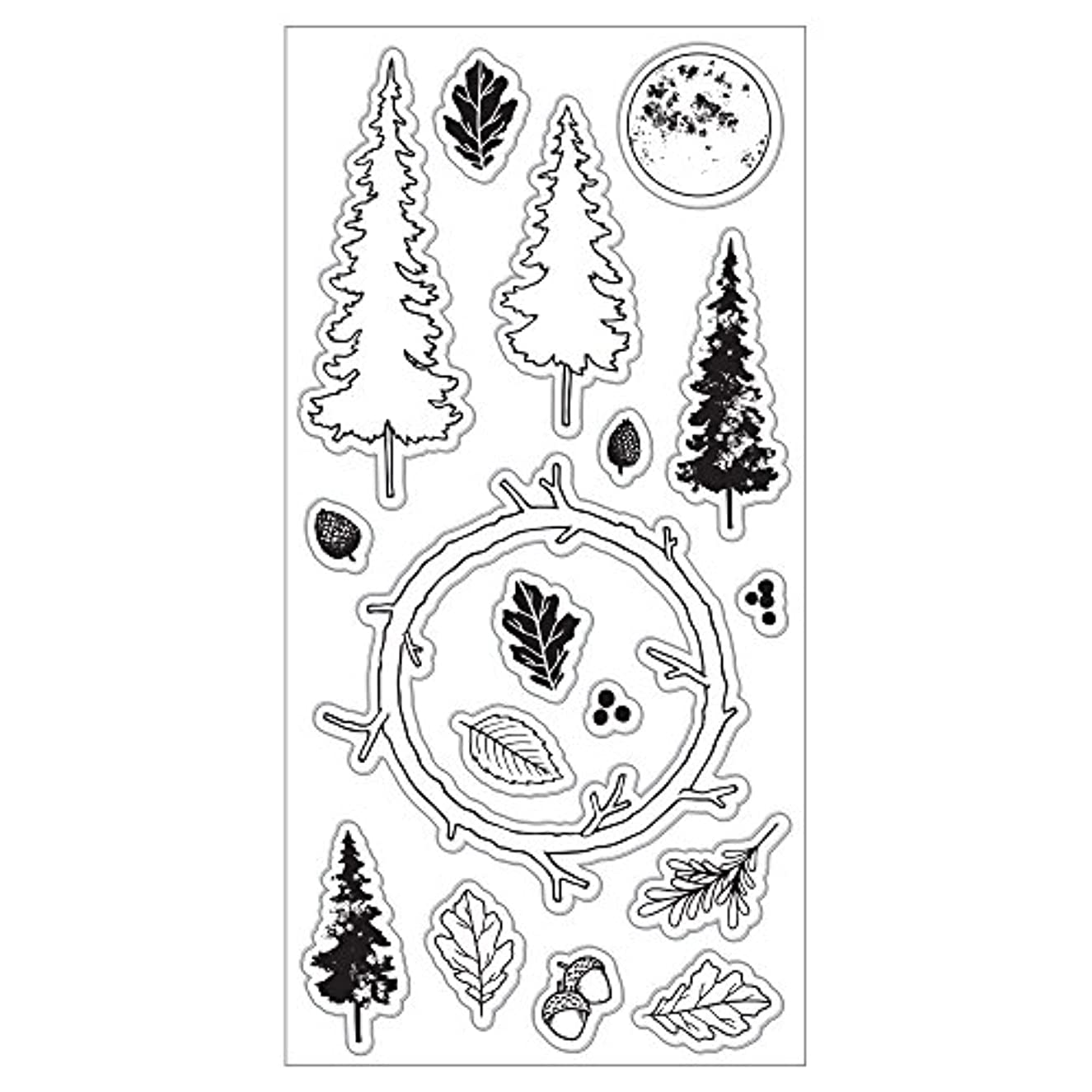 Fiskars Crafts 177290-1001 Enchanted Forest 4x8 Clear Stamp