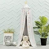 A/N Cuna de bebé, dosel de cama, mosquitera para juegos, decoración perfecta para niños, princesa, niña, dormitorio o habitación de bebé (gris)