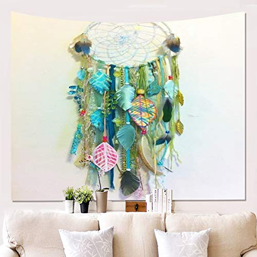 MMHJS Dream Catcher Wind Chimes Decoration Tapestry 3D Simulation Pattern Wall Decoration Blanket Durable Tapestry Beach Towel That Can Be Washed